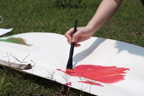 把森林畫成一頁繪本吧!